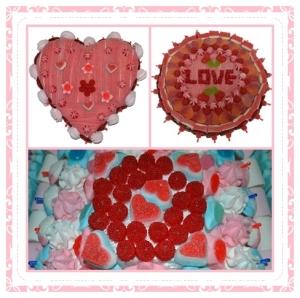 mosaico rojo boda